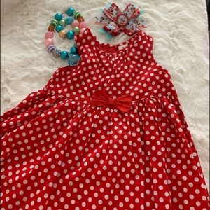 Adorable Red and White Polkadot Dress
